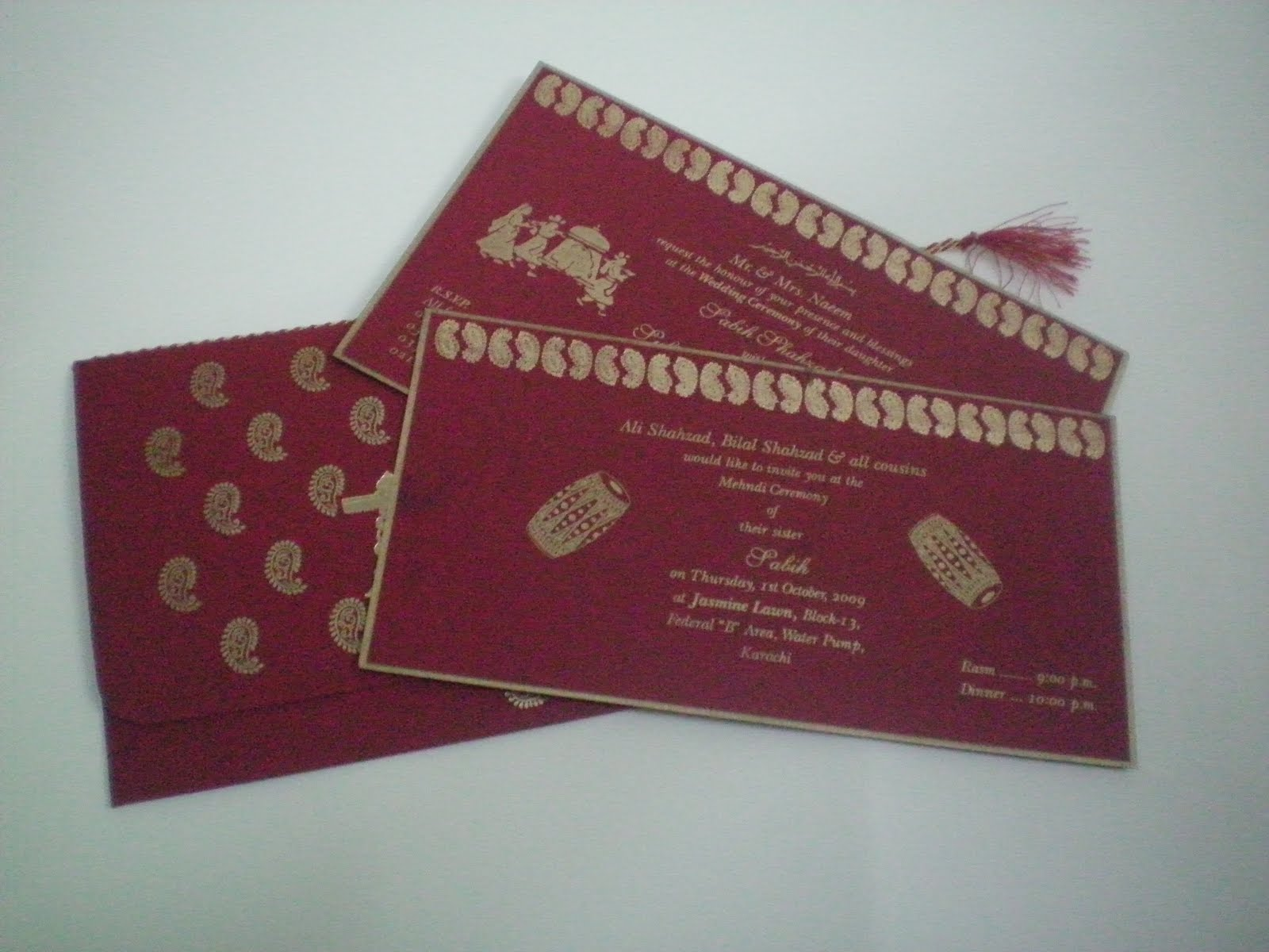 Shafiq Press Wedding Cards